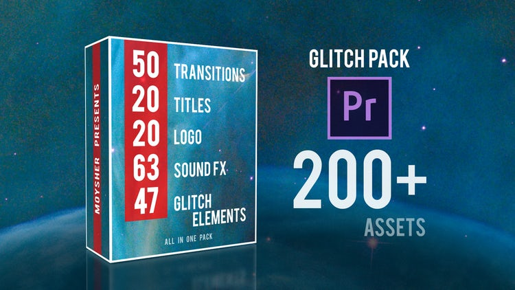 Glitch Pack: Premiere Pro Templates