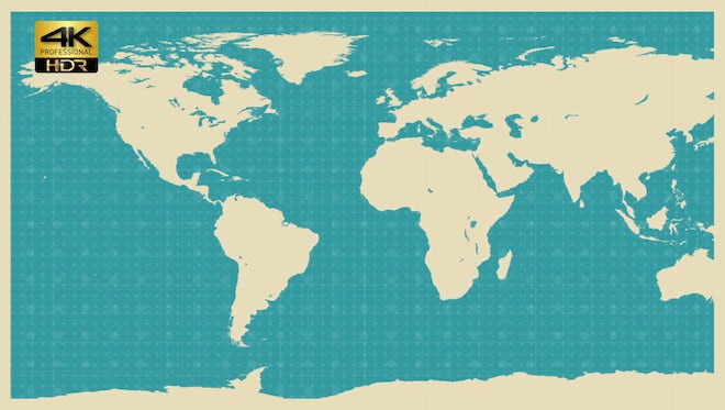 World Map Background: Stock Motion Graphics