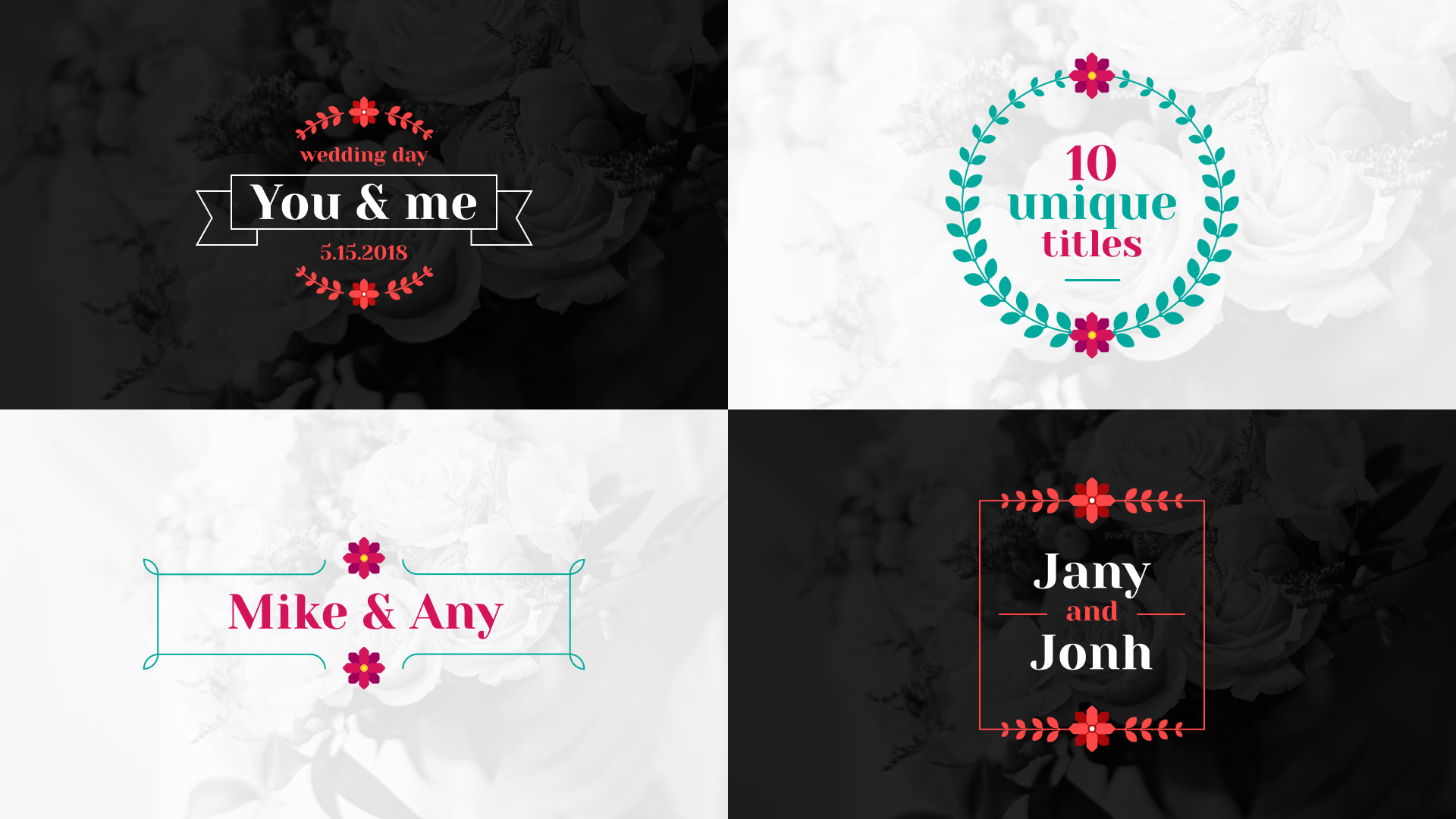 Floral Wedding Titles - After Effects 84109