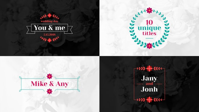 Floral Wedding Titles: After Effects Templates