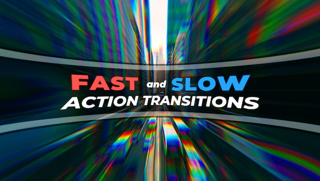 Action RGB Distortion Transitions: Premiere Pro Templates