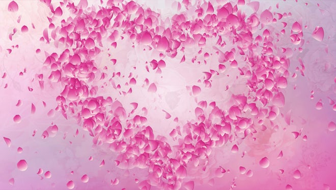 Heart Love Flying Petals: Stock Motion Graphics