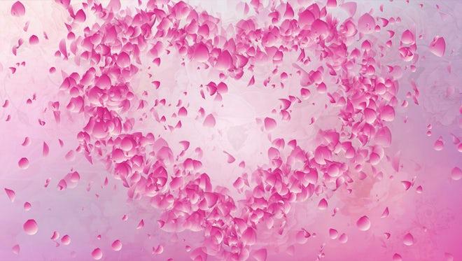 Heart Love Flying Petals: Stock Motion Graphics