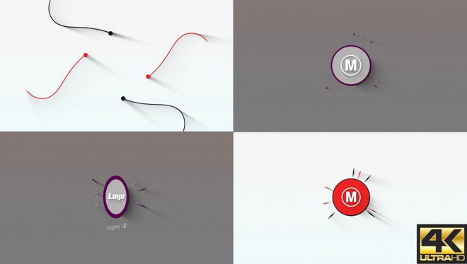 Minimal Two Logos: After Effects Templates