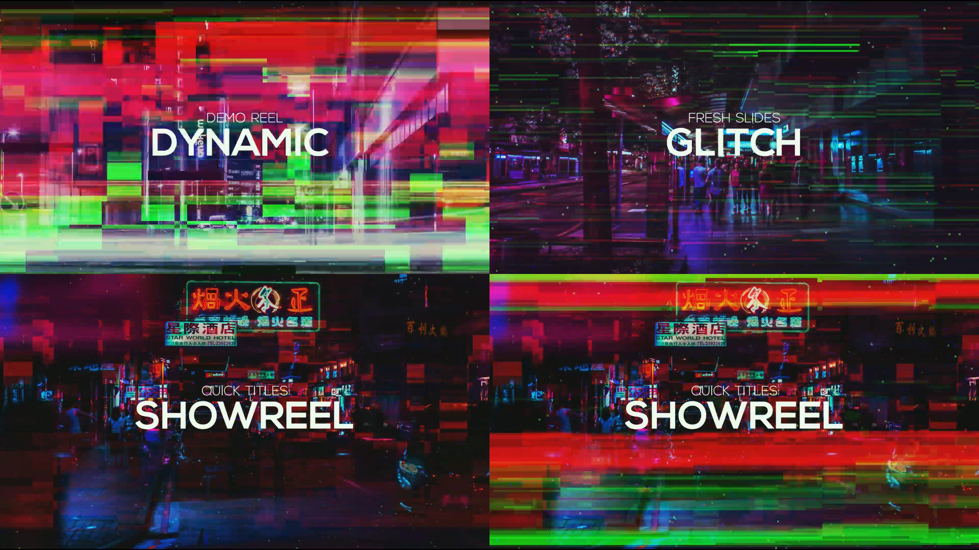 Glitch Slideshow - Premiere Pro Templates 84276