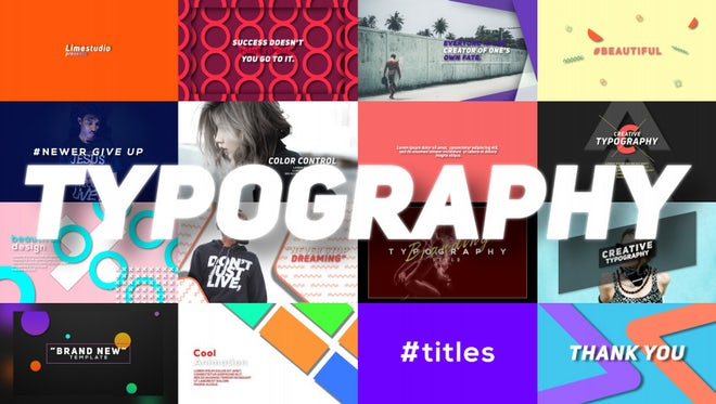 Typography: Motion Graphics Templates