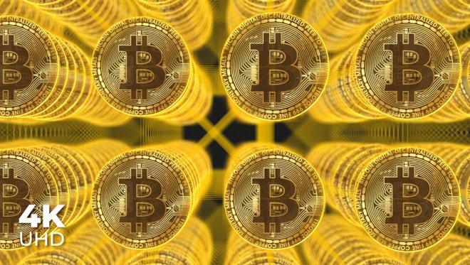 Golden Bitcoins: Stock Motion Graphics