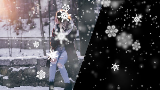 Snowflakes Falling Overlay: Stock Motion Graphics