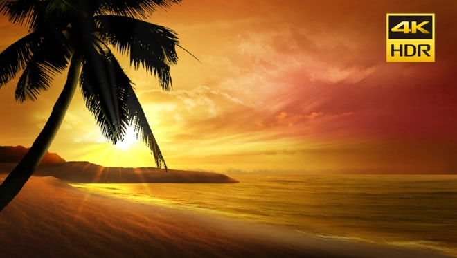 Beautiful Sunset Sea Background: Stock Motion Graphics