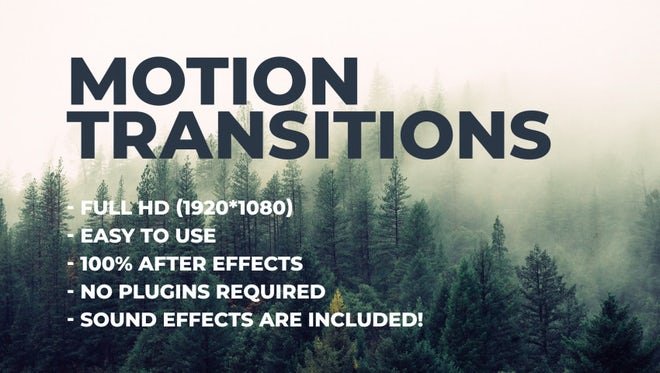 Motion transitions: After Effects Templates