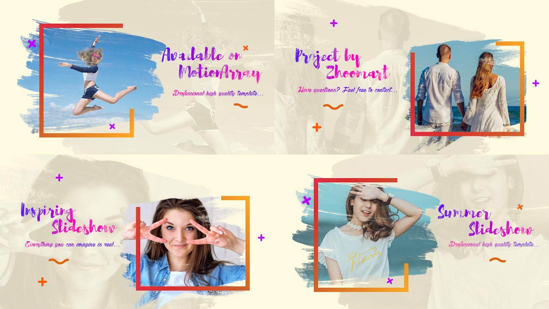 Bright Summer Slideshow - Premiere Pro Templates 85629
