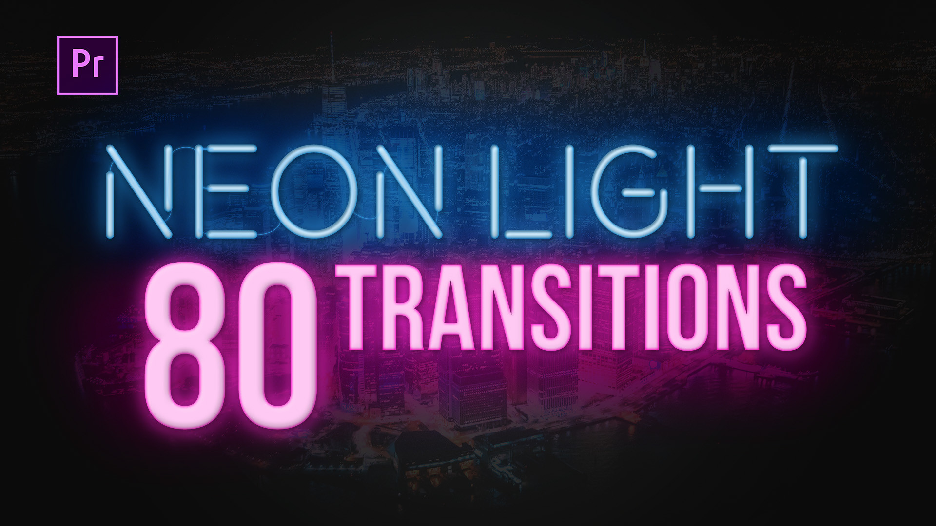80 Neon Light Transitions - Premiere Pro Templates 85673 - Free download