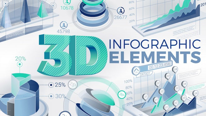3D Infographic Elements: Stock Motion Graphics