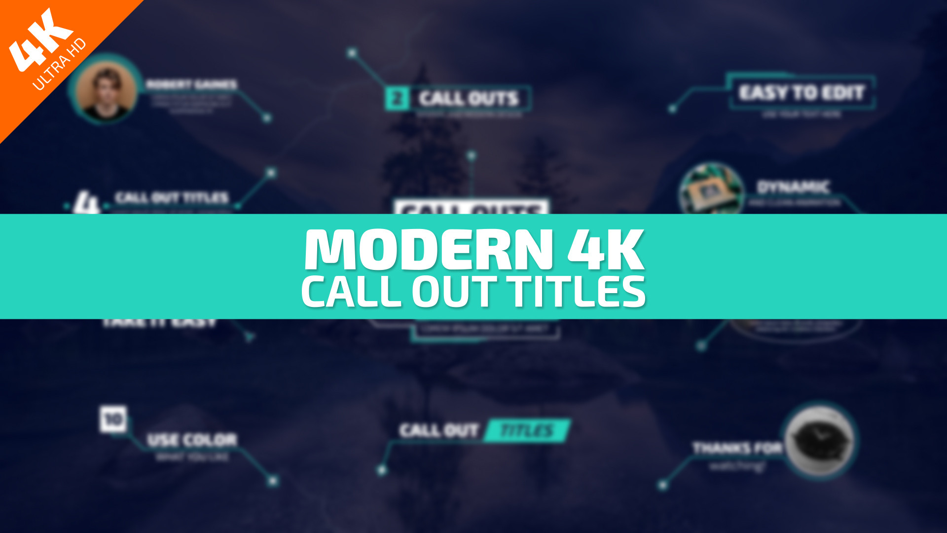 Modern 4K Call Out Titles - Premiere Pro Templates 85828