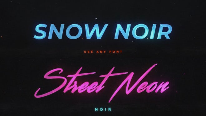 Noir Neon Intro: After Effects Templates