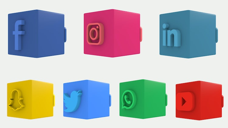 3D Social Media Lower Thirds: After Effects Templates