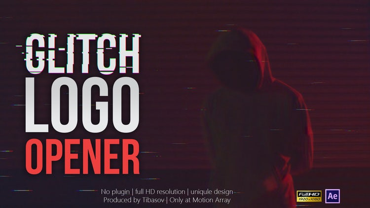 Glitch Logo Opener: After Effects Templates