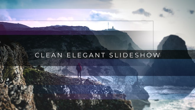 Clean Elegant Slideshow: After Effects Templates