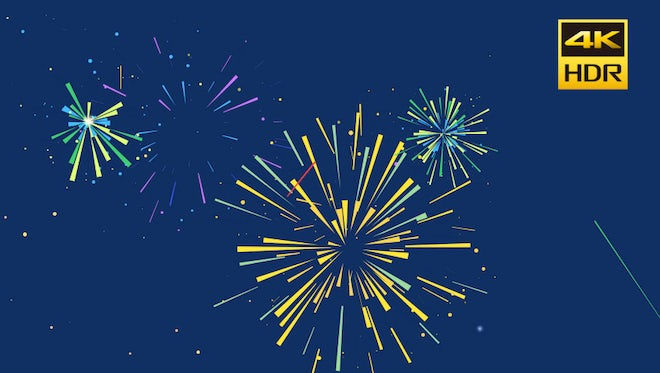 Fireworks Animated Shapes: Stock Motion Graphics