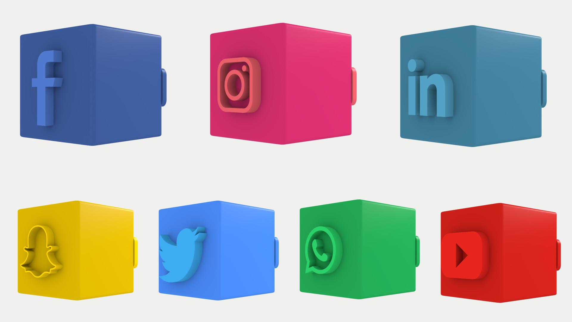 3D Social Media Lower Thirds - Premiere Pro Templates 86161