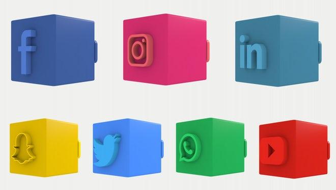 3D Social Media Lower Thirds: Premiere Pro Templates