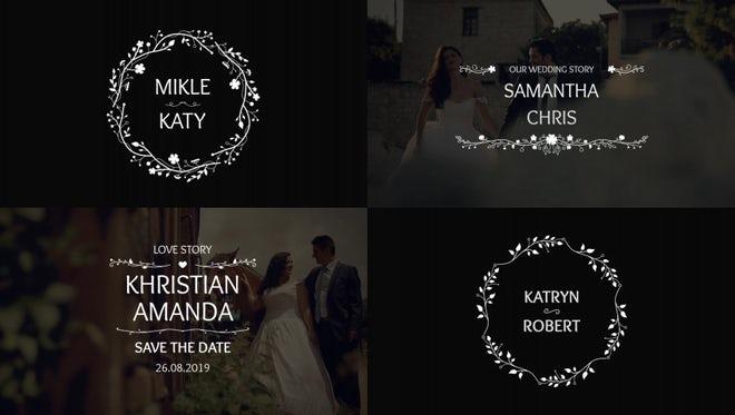 Wedding Titles 4k: Premiere Pro Templates