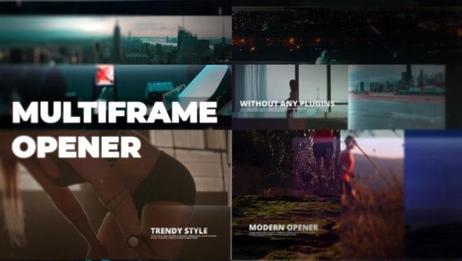 Multiframe Opener: Premiere Pro Templates