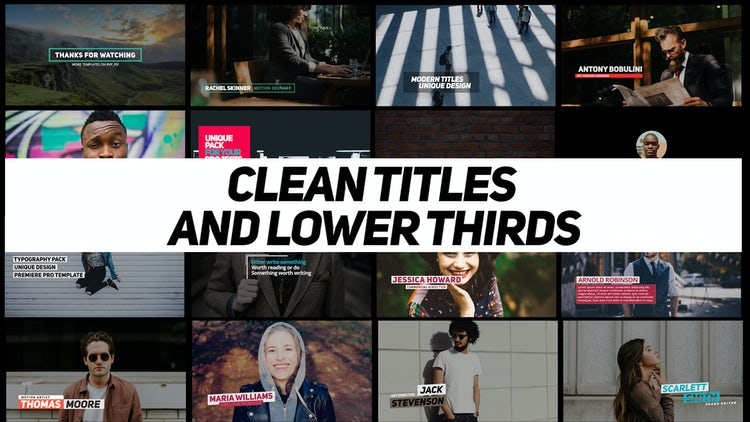Clean Titles And Lower Thirds: Premiere Pro Templates