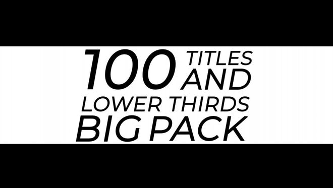 100 Titles And Lower Thirds: After Effects Templates