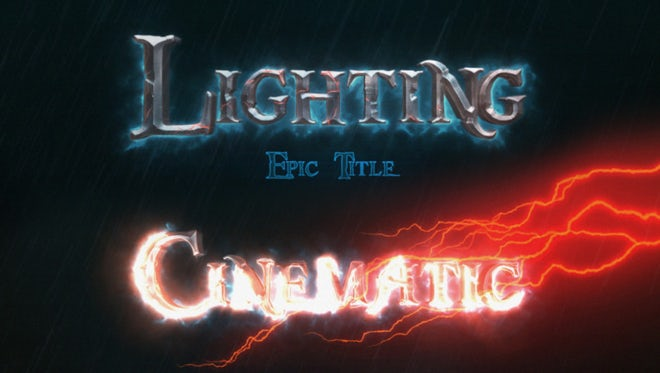Cinematic Epic Title Intro: After Effects Templates