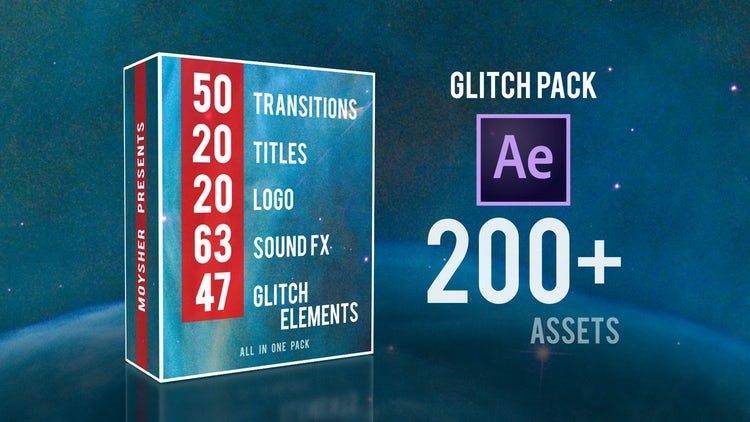 Glitch Pack: After Effects Templates