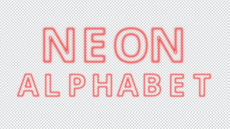 Red Neon Alphabet: Stock Motion Graphics