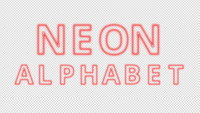 Red Neon Alphabet: Stock Motion Graphics