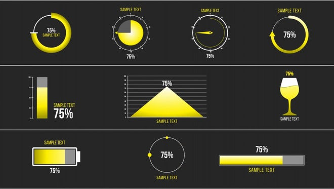 10 Percentage Infographic: Motion Graphics Templates