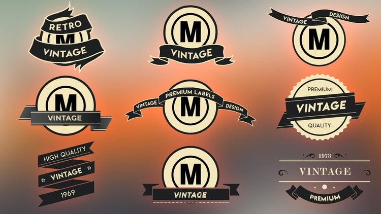 Vintage Label Pack: After Effects Templates