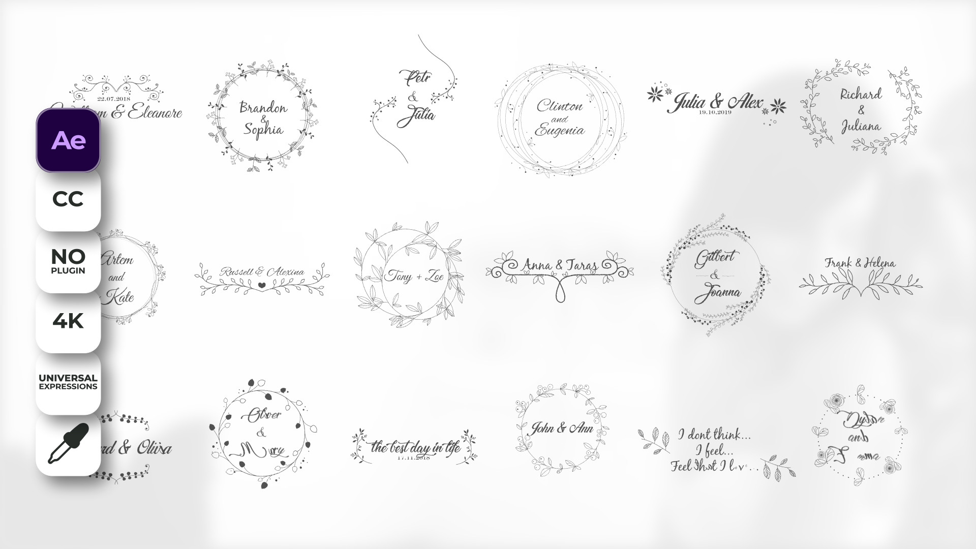Wedding Titles - After Effects 87580