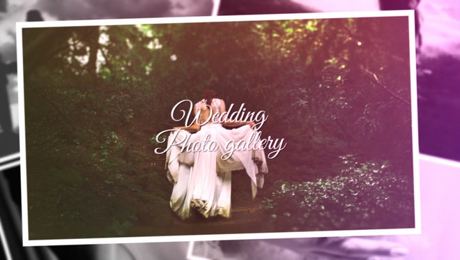 Wedding Photo Gallery Slideshow: After Effects Templates