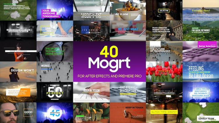Auto Resize Titles 40 Awesome Mogrt: Motion Graphics Templates