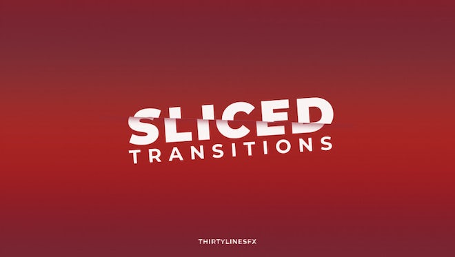 Sliced Transition: Premiere Pro Templates