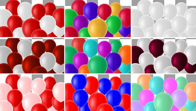Colorful Balloons Transitions Pack : Stock Motion Graphics