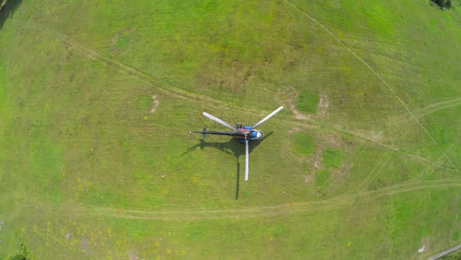 Aerial View Of A Helicopter : Stock Video