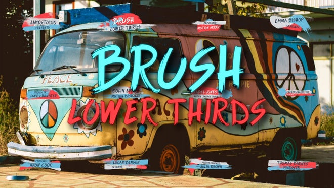Brush Lower Thirds: Motion Graphics Templates
