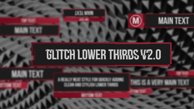 Glitch Lower Thirds v2: Premiere Pro Templates