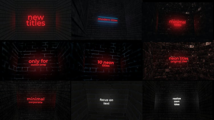 Neon Titles And Logo: After Effects Templates
