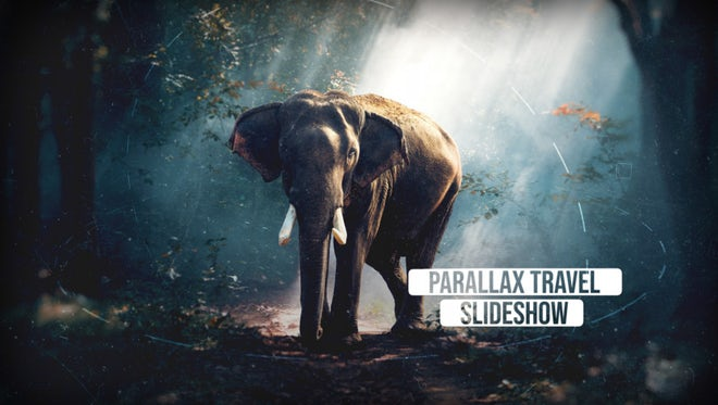 Parallax Travel Slideshow: After Effects Templates