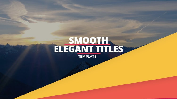 Titles Opener: Premiere Pro Templates