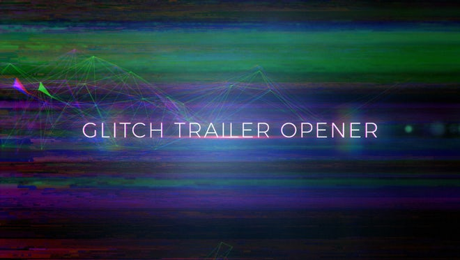 Glitch Trailer Opener: After Effects Templates