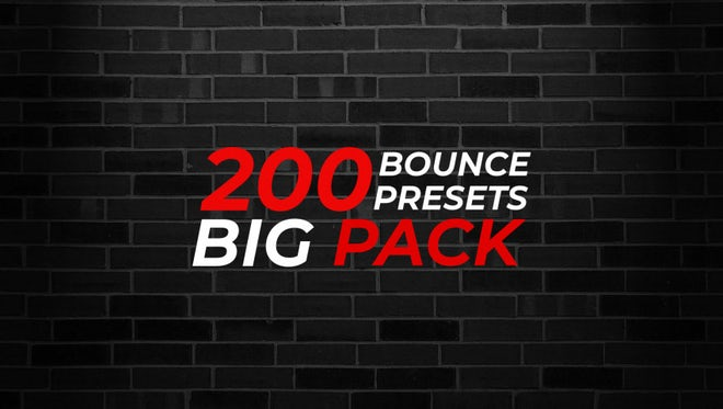 200 Bounce Text Presets Big Pack: After Effects Presets