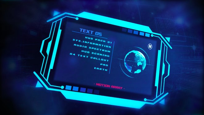 Hack HUD: After Effects Templates