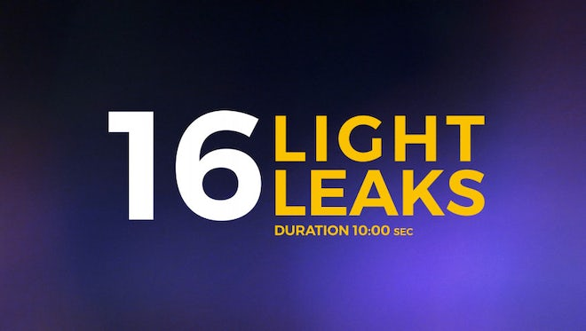 16 Light Leaks Pack: Stock Motion Graphics